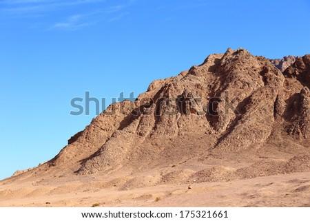 Mountains in South Sinai/ Egypt - stock photo