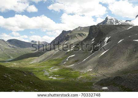 Mountains in the Eastern Siberia. Russia - stock photo