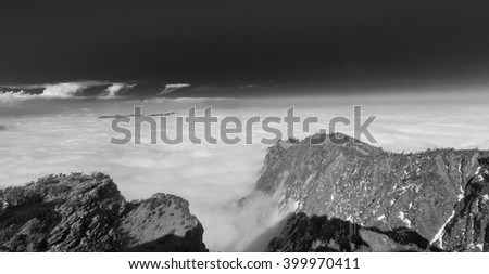 mountains in the sea of clouds