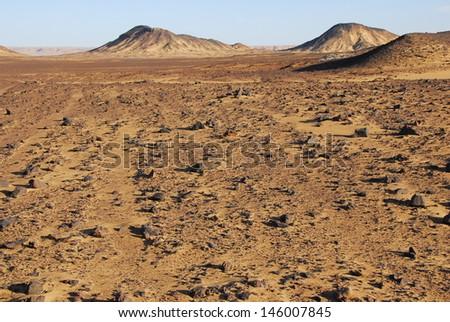 Mountains in the Sinai desert - stock photo