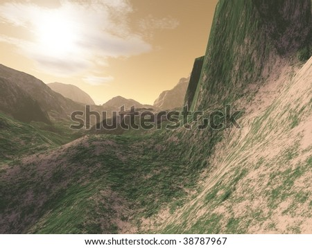 Mountains in the steppe