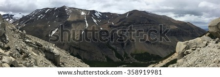Mountains in Torres del Paine National Park, Chile - stock photo