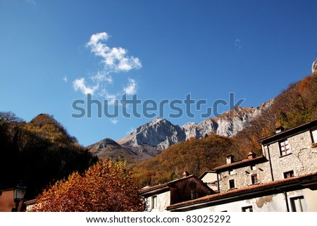 mountains in tuscany - stock photo