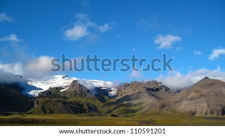 Mountains in Vatnaj�¶kull National Park, Iceland - stock photo