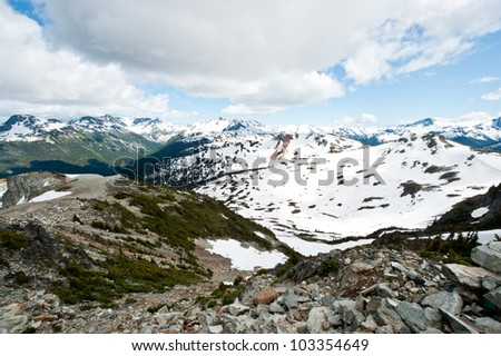 Mountains in Western Canada - stock photo