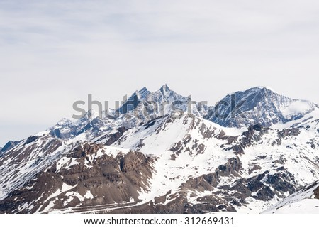 Mountains in winter - stock photo