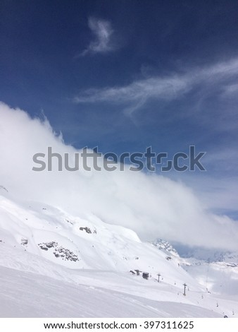 Mountains in winter, Lech, Austria