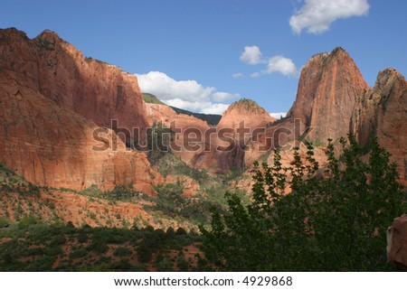 Mountains in Zion National Park, Utah