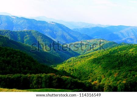 Mountains landscape. - stock photo