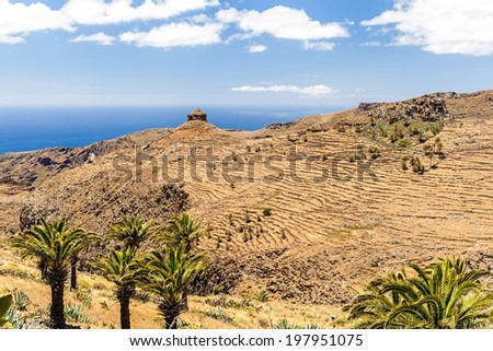 Mountains landscape, Canary Islands La Gomera, Spain - stock photo