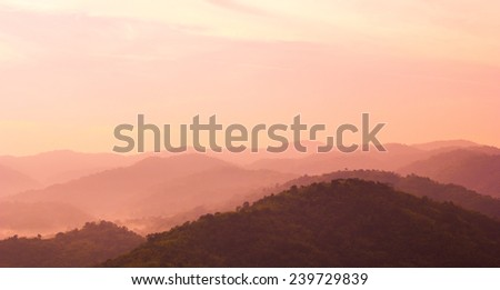 Mountains landscape from mountains - stock photo