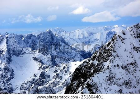 Mountains landscape in High Tatras, Slovakia - stock photo