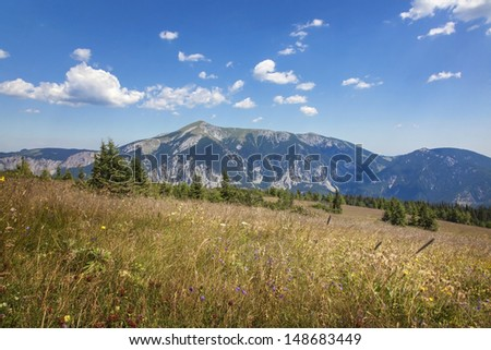 Mountains landscape in  Lower Austria