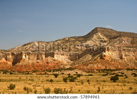 Mountains near Abiqu and Ghost Ranch in Northern New Mexico - stock photo