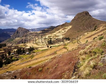 Mountains near Lalibela, Ethiopian Highlands - stock photo