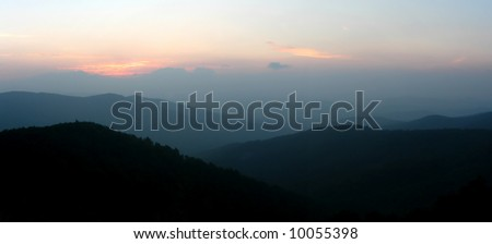 Mountains of Shenandoah National Park at sunrise, Virginia