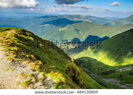 Mountains of Ukraine, Ukrainian Carpathian Mountains in summer