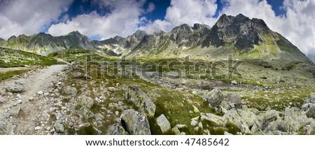 Mountains panorama - stock photo