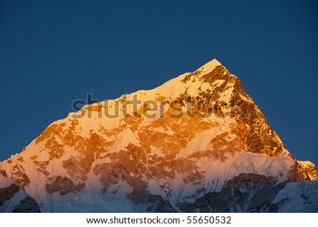 Mountains peak - stock photo