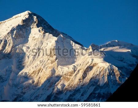 Mountains peak Cho Oyo - stock photo