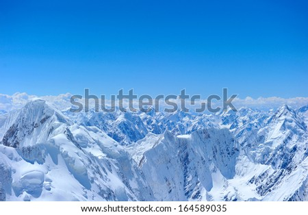 Mountains peakMountains peak - stock photo