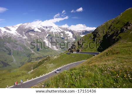 Mountains Road in Austrian Alps