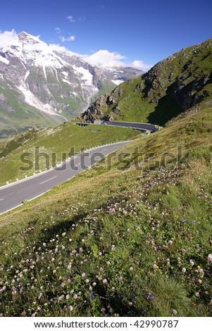Mountains Road in Austrian Alps, High Alpine Road - Grossglockner