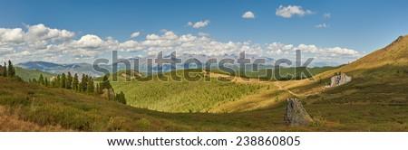 Mountains, Russia, West Siberia, Altai mountains, Chuya ridge. - stock photo