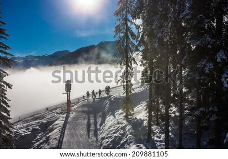Mountains ski resort Austria - nature and sport picture - stock photo