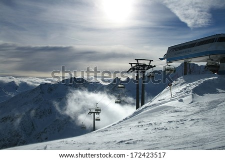 Mountains ski resort Solden Austria - nature and sport