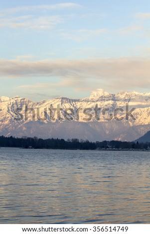 Mountains ski resort Zell am See Austria - stock photo