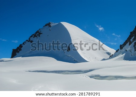Mountains, the North Caucasus. Summit.