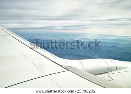 Mountains Under Airplane's Wing