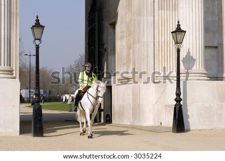 Mounted Police in London #1 - stock photo