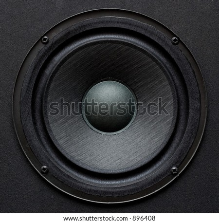 Mounted woofer - stock photo