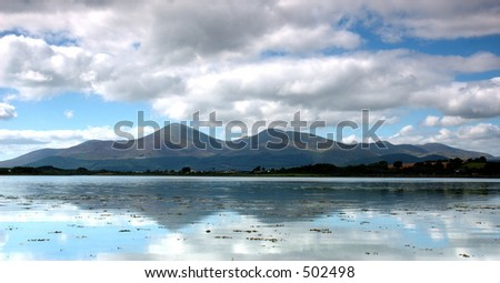 Mourne Mountains, Ireland - stock photo
