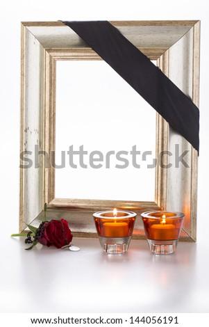 Mourning frame - stock photo