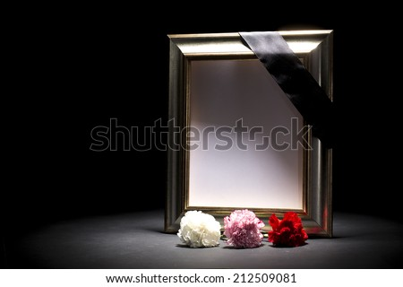 mourning frame  - stock photo