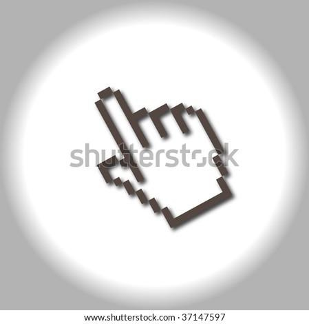 mouse cursor - stock photo