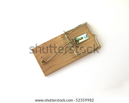 Mouse Trap on a white background