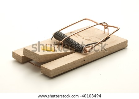 mouse trap on white background