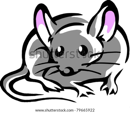 Mouse with big pink ears