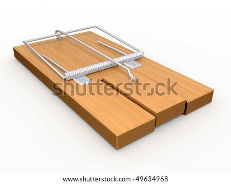 Mousetrap. - stock photo