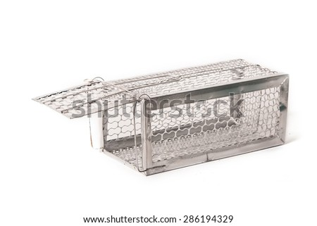 Mousetrap (rat cage) isolated on white background - stock photo