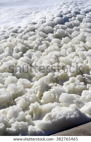 Mousse on the water. - stock photo