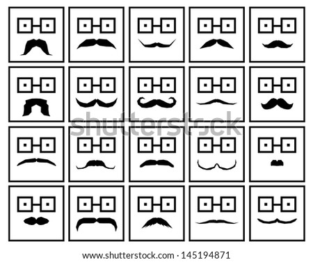 moustache - stock photo
