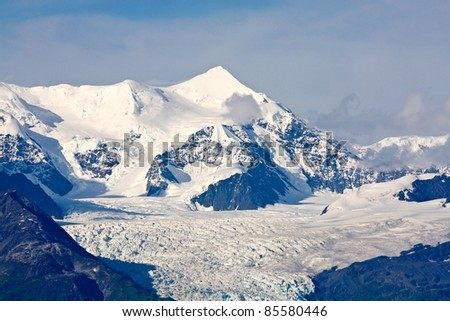 Mouth of Glacier in College Fjord, Alaska - stock photo