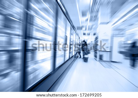 move in the supermarket - stock photo