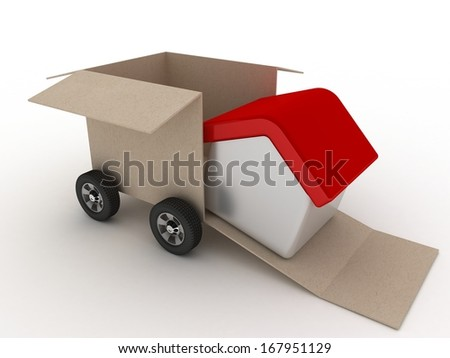 Move my home - stock photo