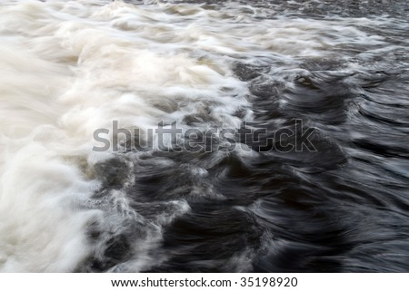 move of waves - stock photo
